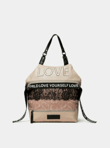 Svetloružový batoh/kabelka Desigual