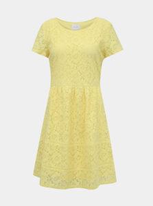 Žlté krajkové šaty VILA Sulacey