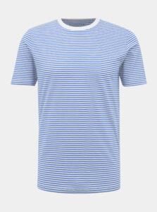 Modro-biele pruhované basic tričko Selected Homme The Perfect