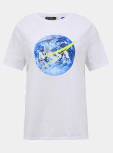 Biele tričko TALLY WEiJL Nasa