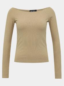 Béžové rebrované basic tričko TALLY WEiJL
