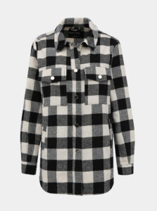 Krémovo-čierna kockovaná košeľa TALLY WEiJL
