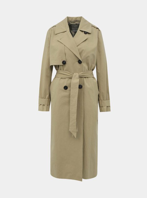 Béžový kabát Selected Femme Weeky