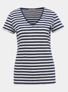 Bielo-modré dámske pruhované basic tričko ZOOT Baseline Aliki