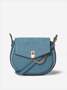 Modrá crossbody kabelka s detailmi v semišovej úprave Dorothy Perkins