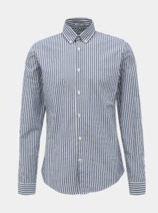 Bielo-modrá pruhovaná slim fit košeľa Lindbergh