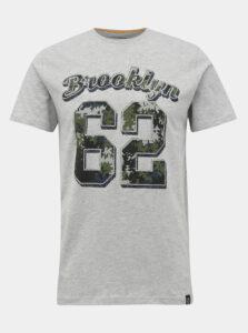 Šedé tričko s potlačou Shine Original