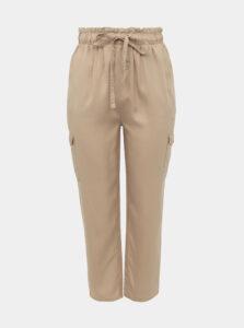Béžové nohavice ONLY CARMAKOMA Stello