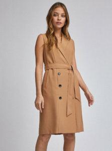 Hnedé šaty Dorothy Perkins Petite