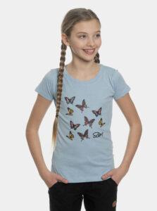 Svetlomodré dievčenské tričko s potlačou SAM 73