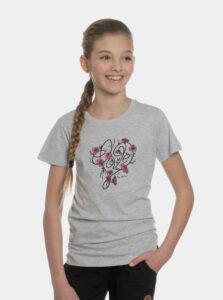 Šedé dievčenské tričko s potlačou SAM 73