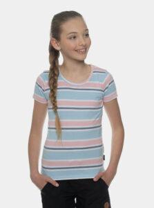 Svetlomodré dievčenské pruhované tričko SAM 73