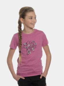 Rúžové dievčenské tričko s potlačou SAM 73