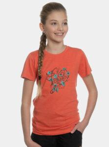 Oranžové dievčenské tričko s potlačou SAM 73