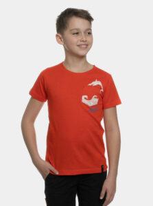 Červené chlapčenské tričko s vreckom SAM 73