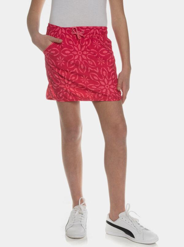 Tmavoružová dievčenská vzorovaná sukňa SAM 73