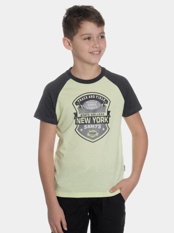 Svetlozelené chlapčenské tričko s potlačou SAM 73