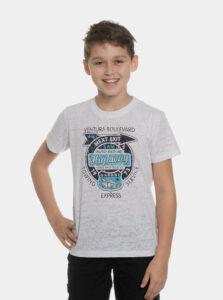 Biele chlapčenské tričko s potlačou SAM 73