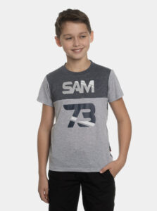 Šedé chlapčenské tričko s potlačou SAM 73