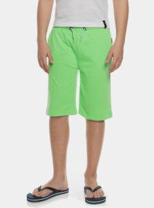 Neonovo zelené chlapčenské teplákové kraťasy SAM 73