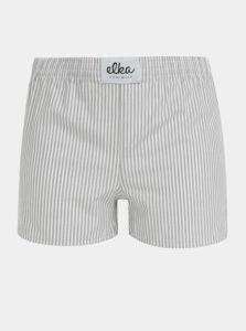 Bielo-šedé dámske pruhované trenýrky El.Ka Underwear