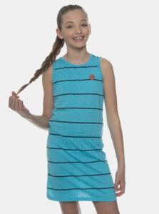 Modré dievčenské pruhované šaty SAM 73