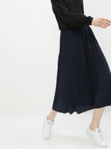 Tmavomodrá plisovaná midi sukňa Jacqueline de Yong Paris