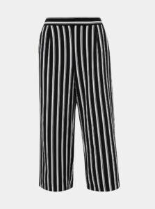 Bielo-čierne pruhované culottes VERO MODA