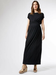Čierne tehotenské maxišaty Dorothy Perkins Maternity