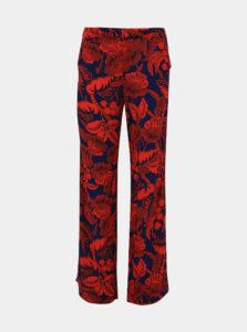 Červeno-modré kvetované nohavice s pásom Desigual Eritrea