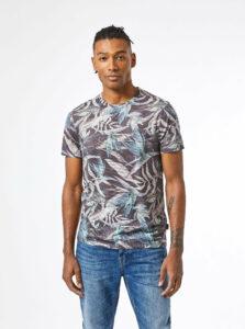 Šedé vzorované tričko Burton Menswear London