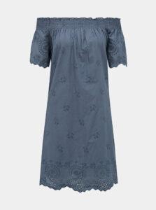 Modré šaty s madeirou ONLY New