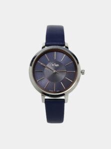 Dámske hodinky s tmavomodrým koženým remienkom Lee Cooper