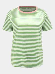 Zelené dámske pruhované basic tričko My True Me Tom Tailor