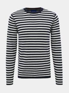 Tmavomodrý pruhovaný sveter Jack & Jones Nelson