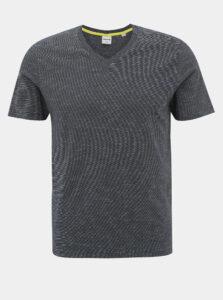 Tmavomodré pruhované basic tričko Jack & Jones Core Strong