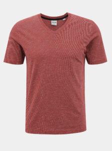 Červené pruhované basic tričko Jack & Jones Core Strong