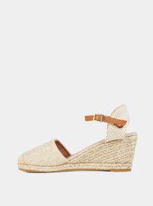 Sandálky na plnom podpätku v hnedo-béžové farbe Dorothy Perkins