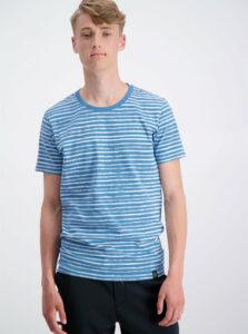 Bielo-modré pruhované tričko Shine Original