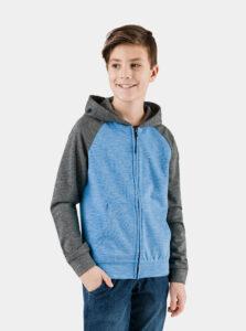 Šedo-modrá chlapčenská mikina SAM 73