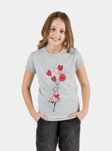 Svetlošedé dievčenské tričko SAM 73