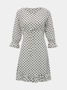 Biele bodkované šaty Haily´s Melly