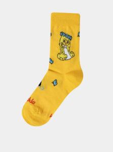 Žlté dievčenské vzorované ponožky Fusakle Víla Amalka