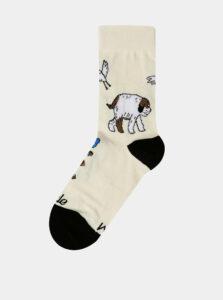 Krémové detské vzorované ponožky Fusakle Maxipes Fík