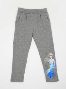 Šedé dievčenské tepláky s potlačou name it Frozen Melody