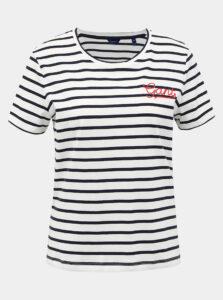 Biele dámske pruhované tričko GANT