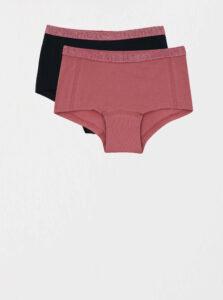 Sada dvoch nohavičiek v ružovej a tmavomodrej farbe name it Hipster