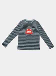 Modré chlapčenské pruhované tričko name it Jaws