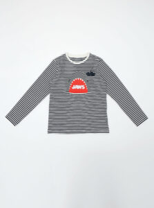 Čierno-biele chlapčenské pruhované tričko name it Jaws