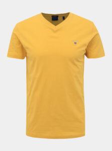Žlté pánske basic tričko GANT